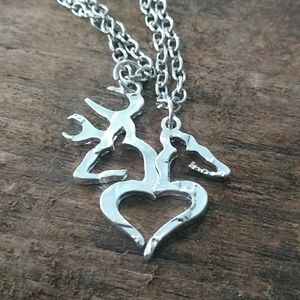 Couples necklaces buck and doe set
